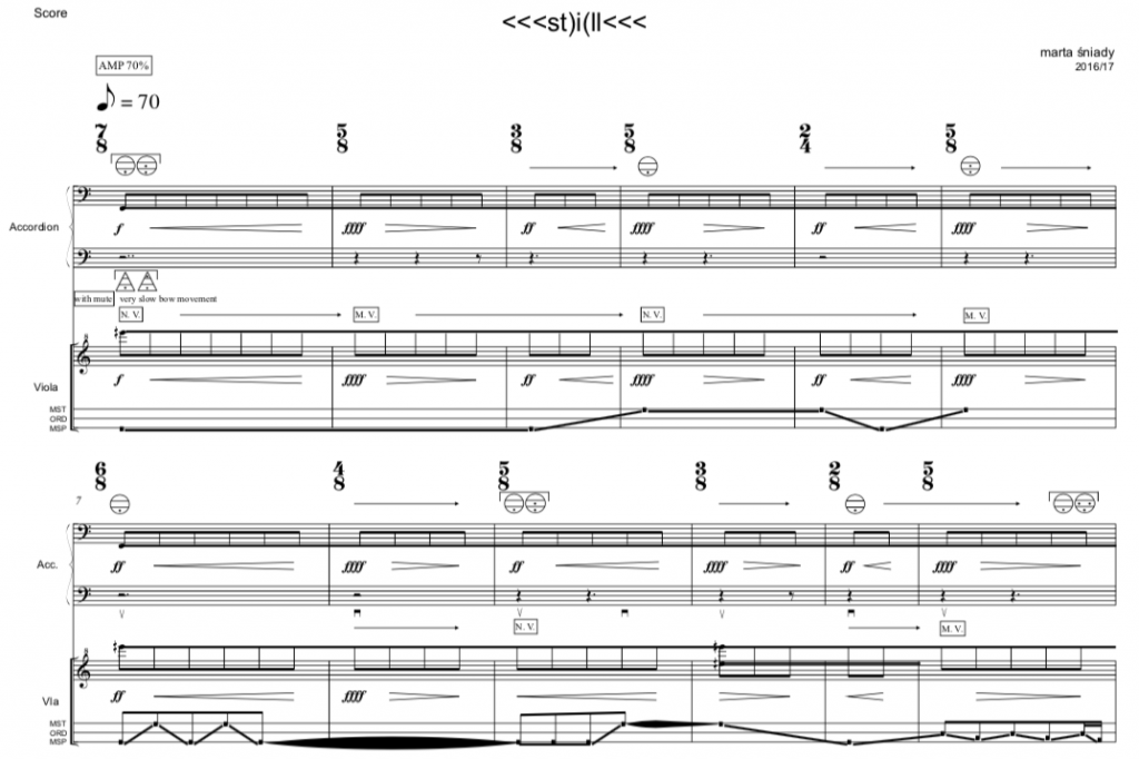 New Polish Music for accordion viola dedicated to Duo van Vliet